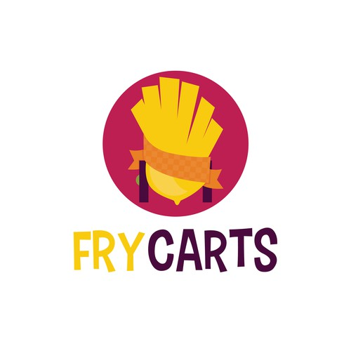 Food cart logo