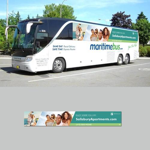 Bus wrap / ad design