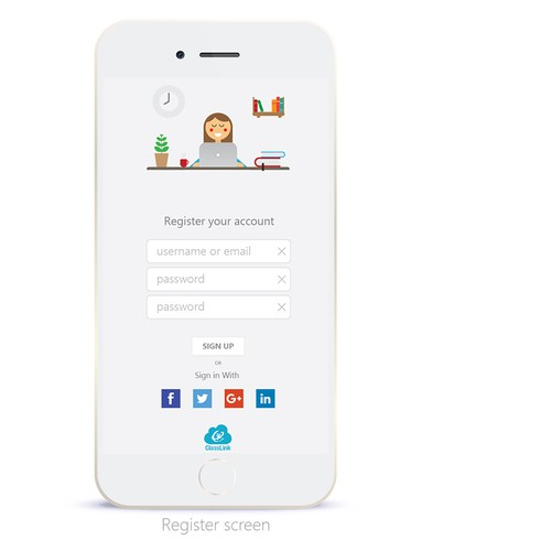 Register and login for parents educational app