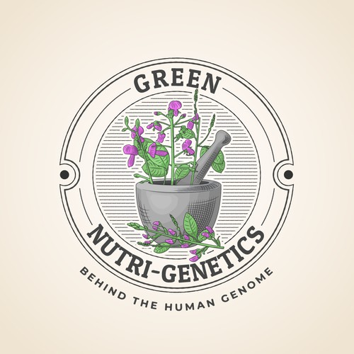 Vintage Logo Concept for a Natural Supplement