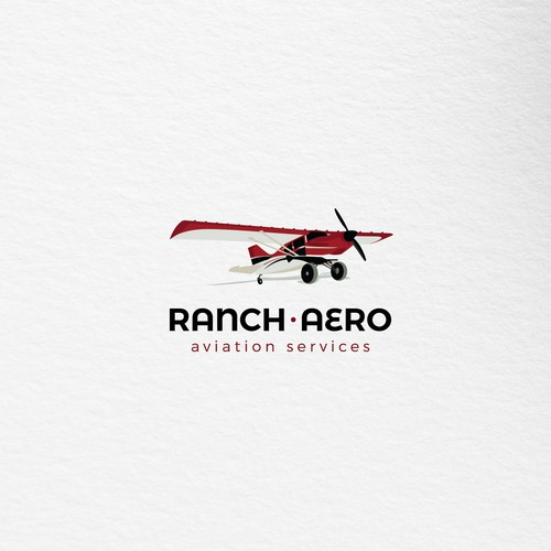 Realistic logo for aviation services company