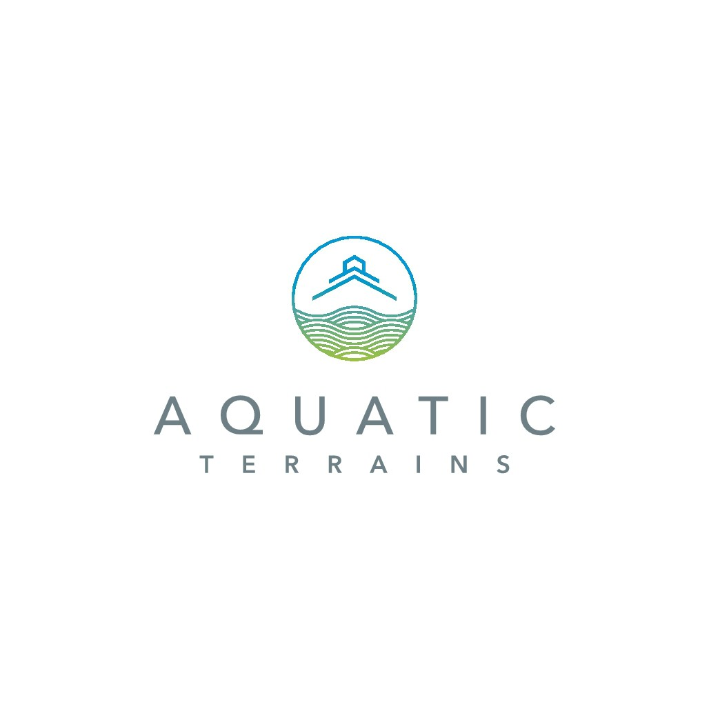 Design a Modern, Minimal Logo for Aquatic Terrains, a swimming pool company!