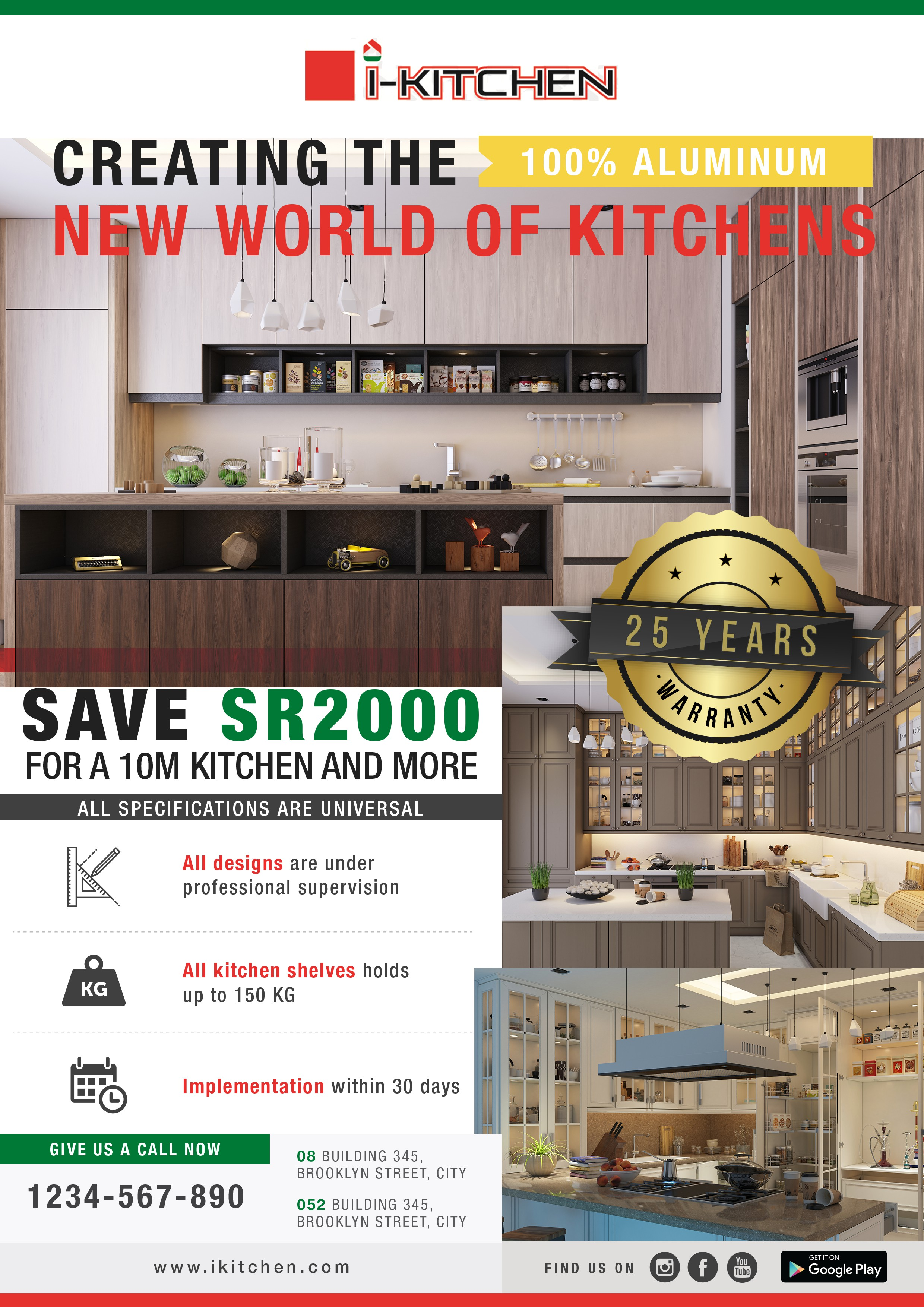 flyer to sow the offer that we have (kitchens)