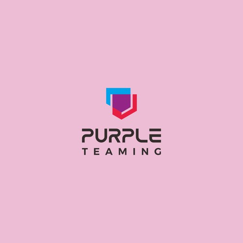 Fun yet serious logo for hackers and defenders team: Purple Teaming