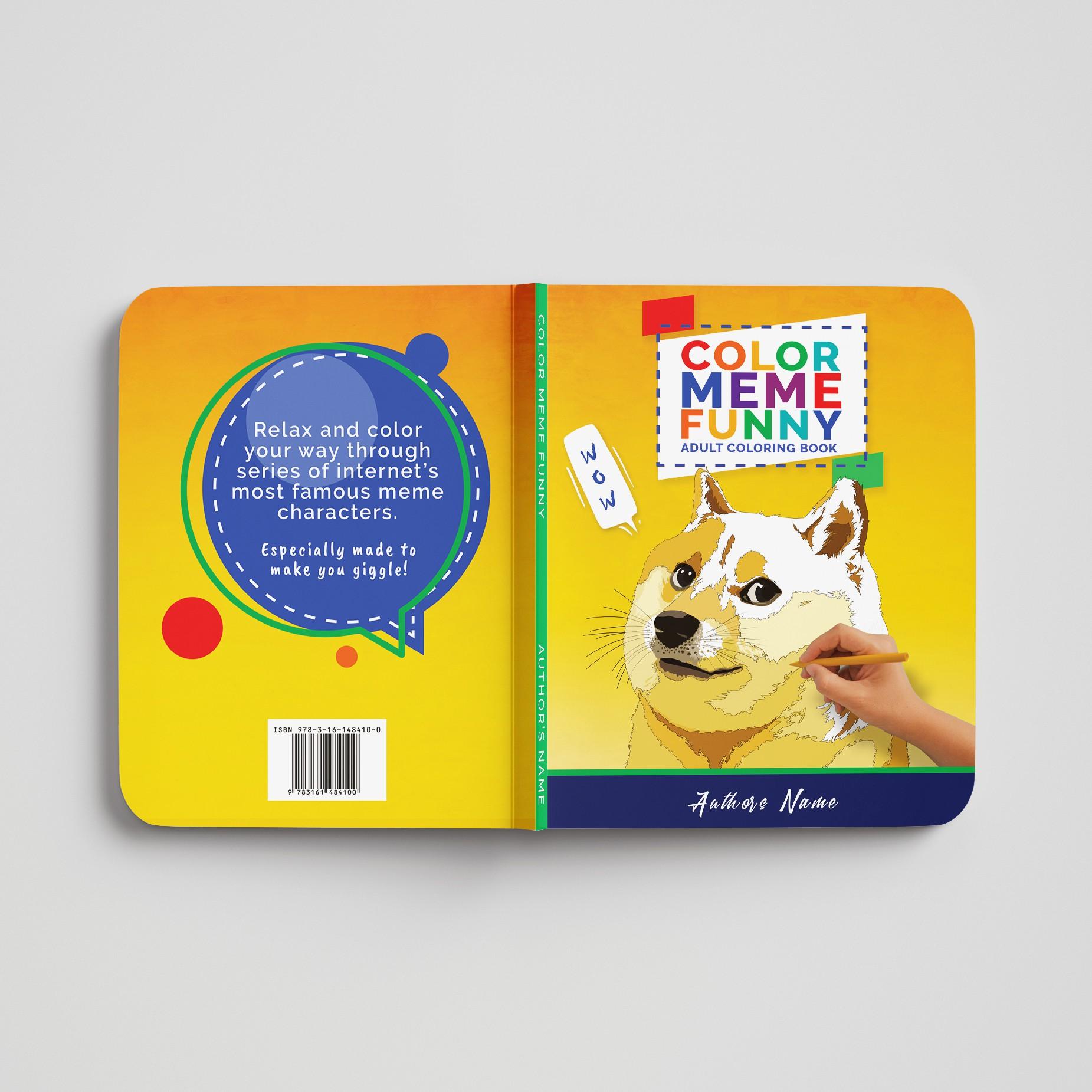"Design a book cover for ""Color Meme Funny"""