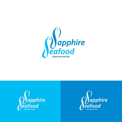 Logo concept for sustainable seafood.