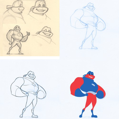 Redesign current mascot to be buffer and tougher.