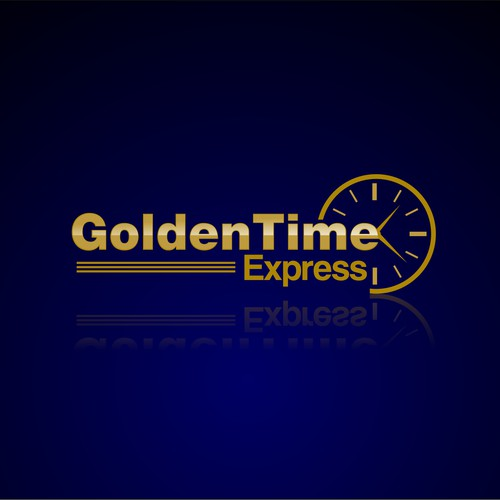 Create the next logo for GoldenTime Express