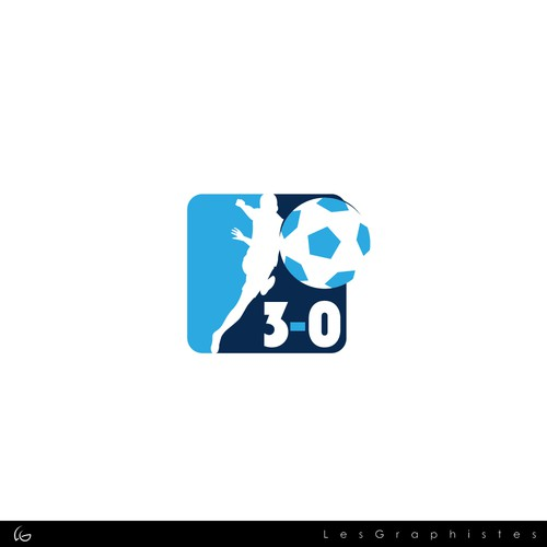 Logo for a card game about soccer.
