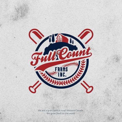 Farming and Baseball logo concept.