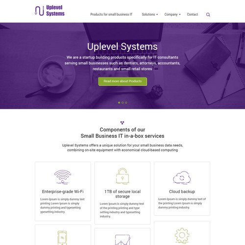 Web site for IT company Uplevel Systems