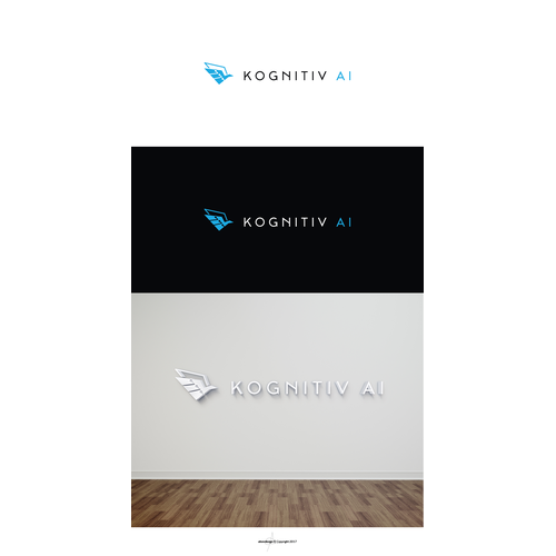 Futuristic logo for an AI (Artificial Intelligence) company.