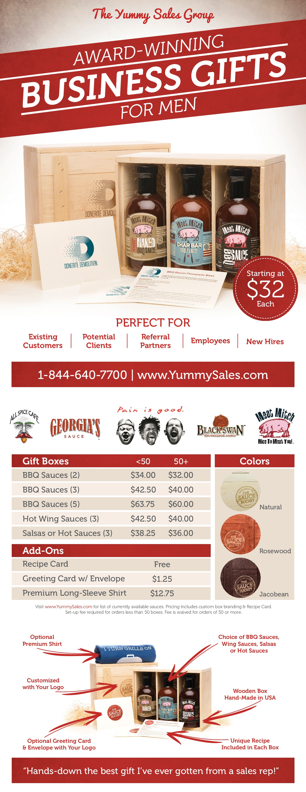 Yummy Sales Group - B2B Sell Sheet (Leaflet) & Price List