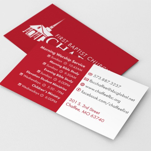 Complete information card for The first Baptist Church of Chaffee