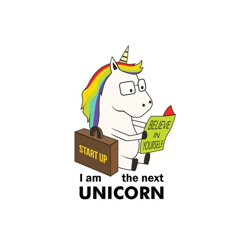 Start Up Unicorn Illustration