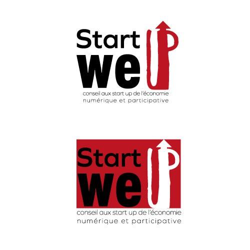 création d'un logo pour univers l'économie numérique et participative