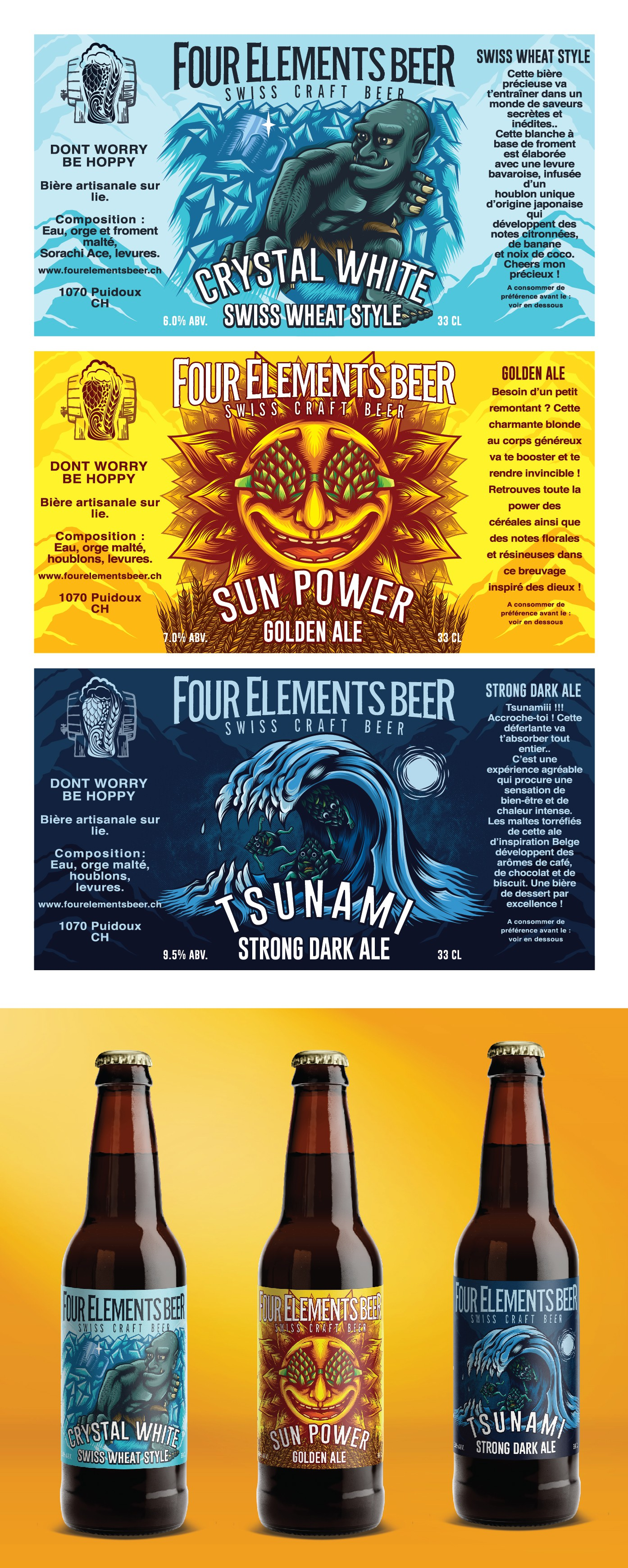 Creation of new label for Swiss Craft Beer