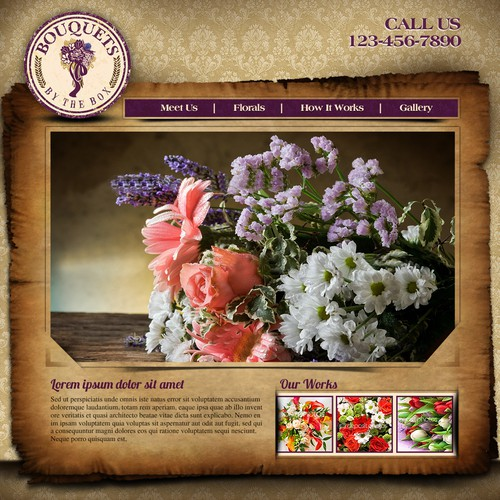 New website design wanted for Bouquets By The Box