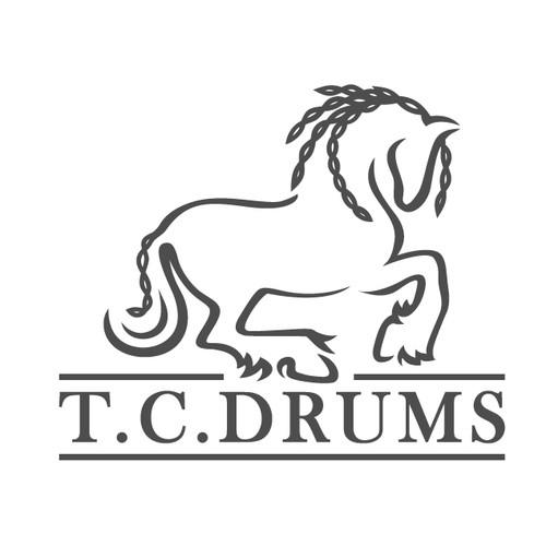 T. C. DRUMS LOGO