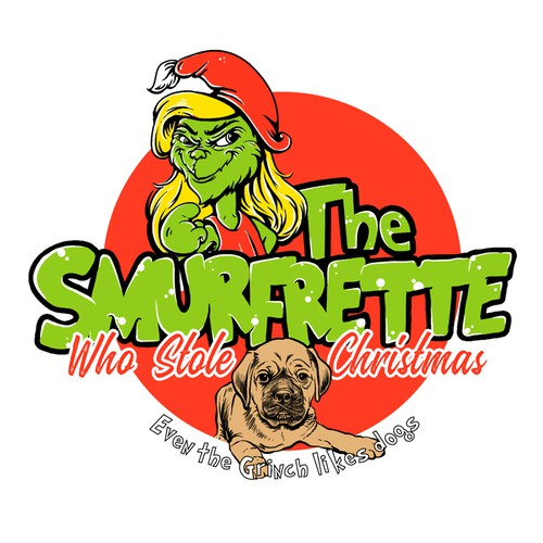 T-shirt design for The Smurfrette