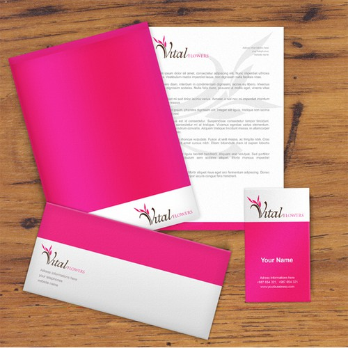 Help Vital Flowers with a new logo and business card