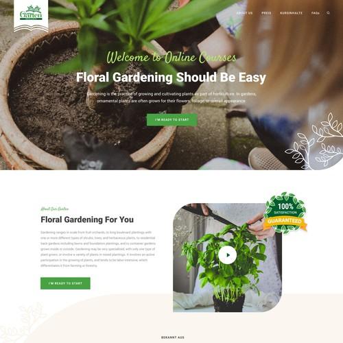 Gardening landing Page