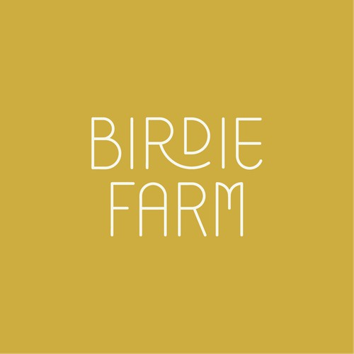 Custom lettering for Berdie Farm