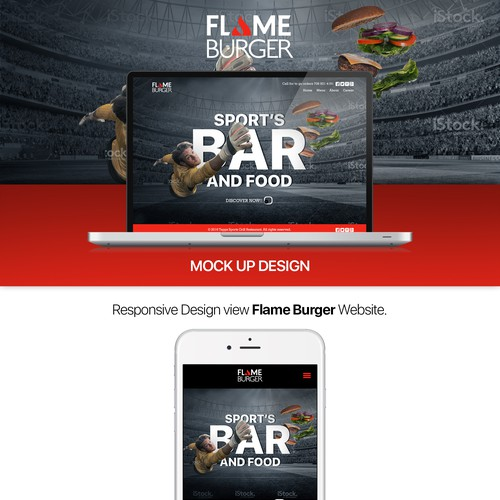 Website Design Flame Burger
