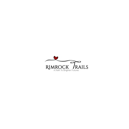 Simple and lovely Rimrock Trails logo.