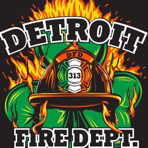 St. Pats Day Fire Dept. T-Shirt
