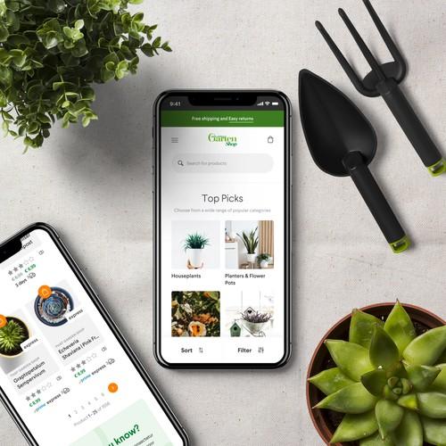 Mein Schoner Garten Shop Home Page UI