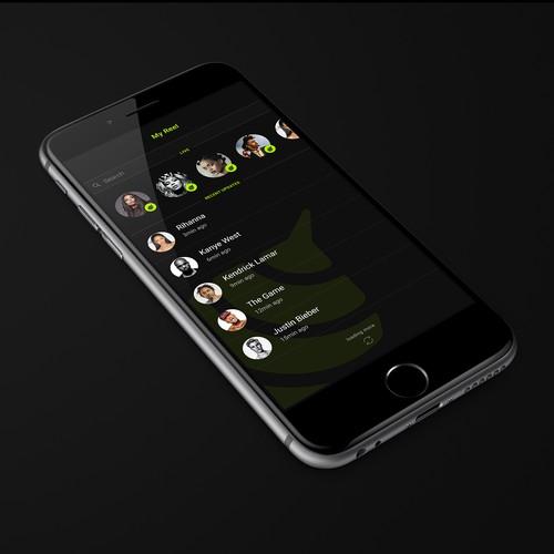 Buzzreel app design