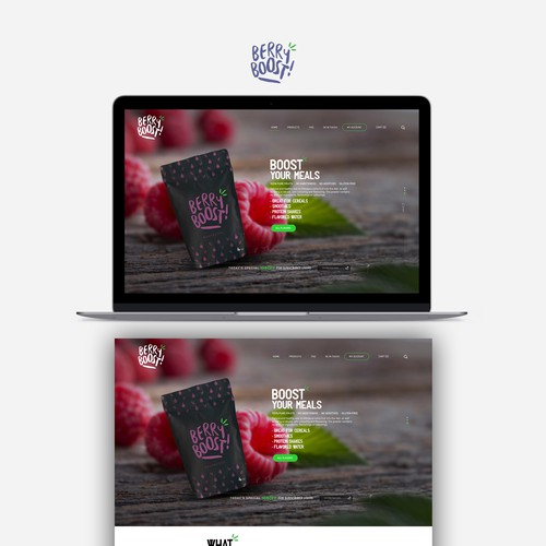 BERRY BOOST! Webdesign