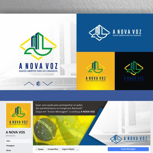 Professional and modern logo design for A Nova Vos