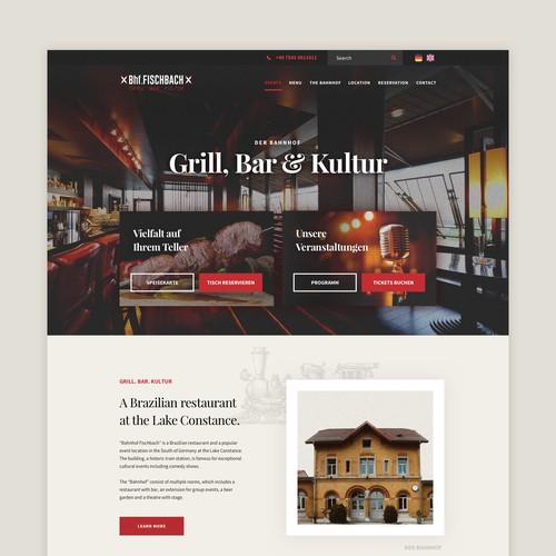 Bahnhof Fischbach | Homepage Redesign