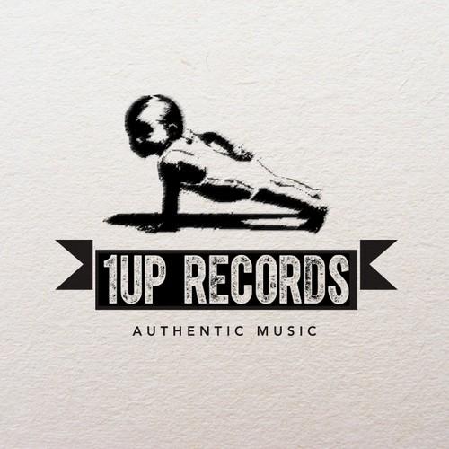 1UP Records Logo Design