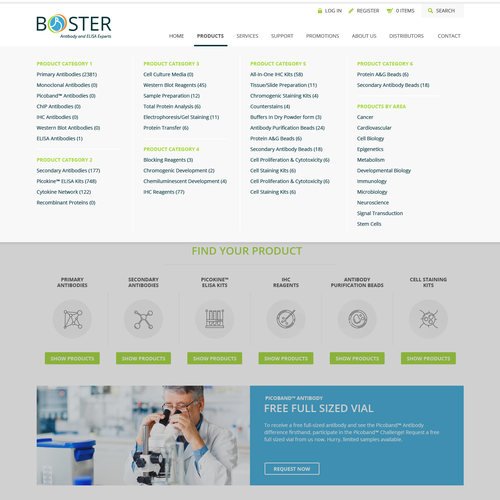 Web design for biological technology company