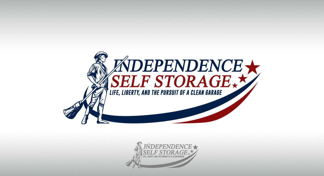 Create a unique patriotic themed logo for a self storage facility.
