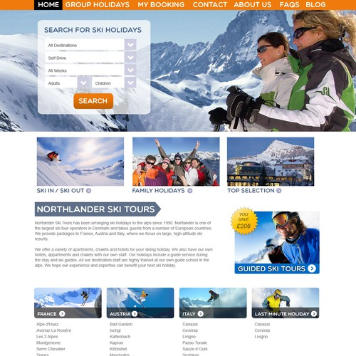 Web Page Design for a Ski Resort
