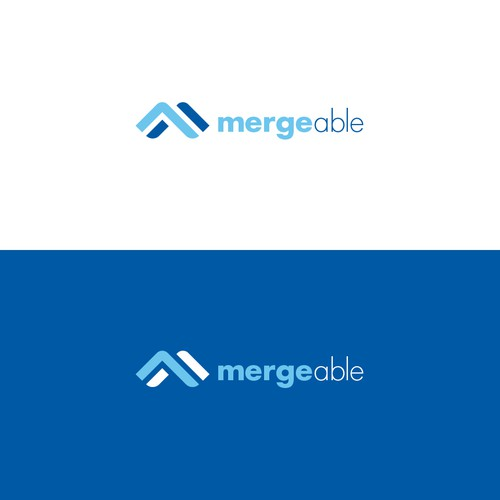 Bold logo conept for Mergeable