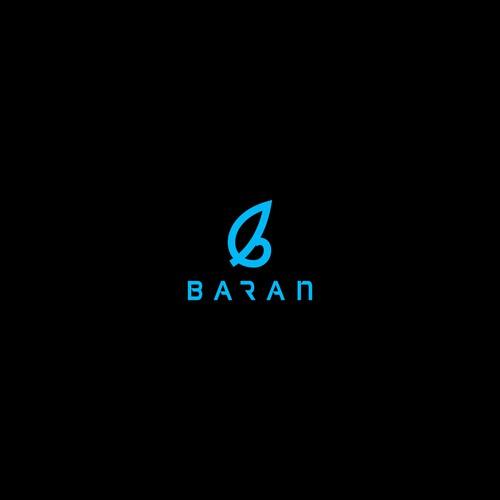 Simple logo design for baran