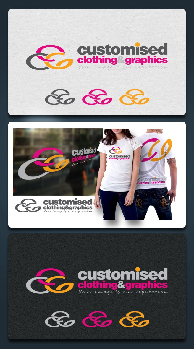 Help Customised Graphics with a new logo