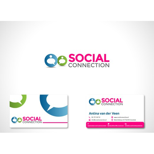 Wanted: a professional yet bright/happy logo for Social Connection