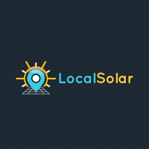 Logo design for a solar panel company