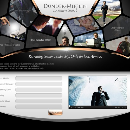 Prestigious / CEO-class  Landing Page / Welcome Page