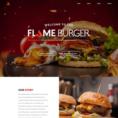 Burger Restaurant Web Design