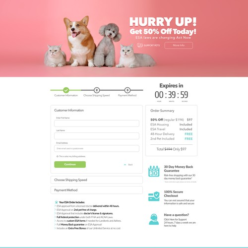 design checkout page
