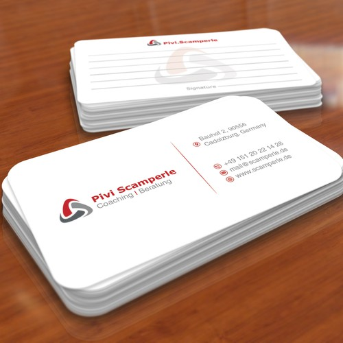 Business card that inspires confidence and aura of expertise