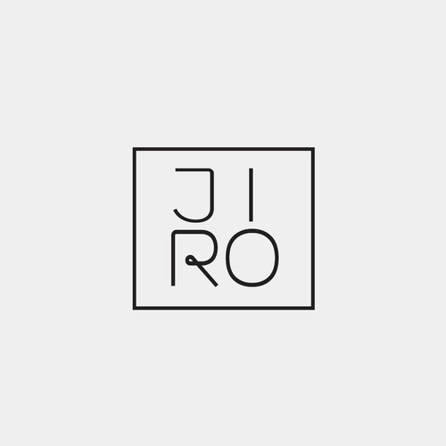 Simple typographic logo for JIRO
