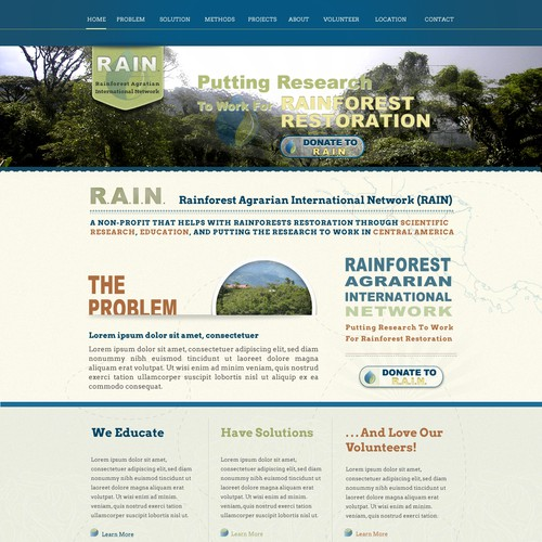 Help Rainforest Agrarian International Network with a new website design